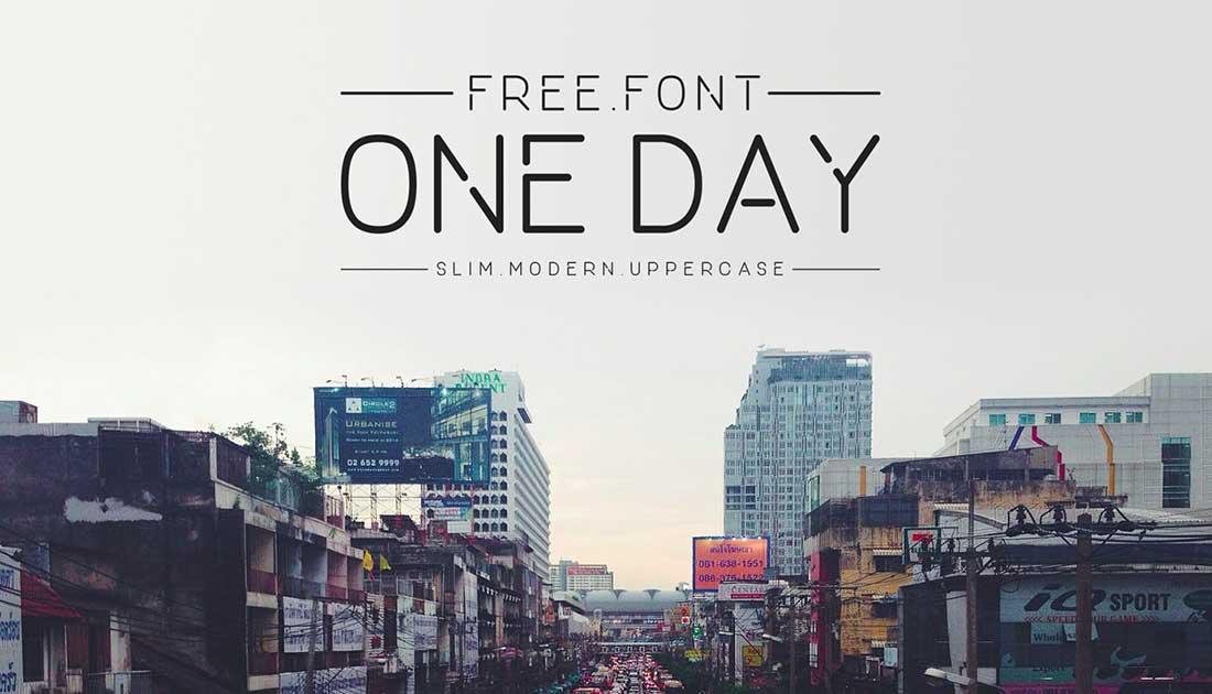16 One Day Free Elegant Font