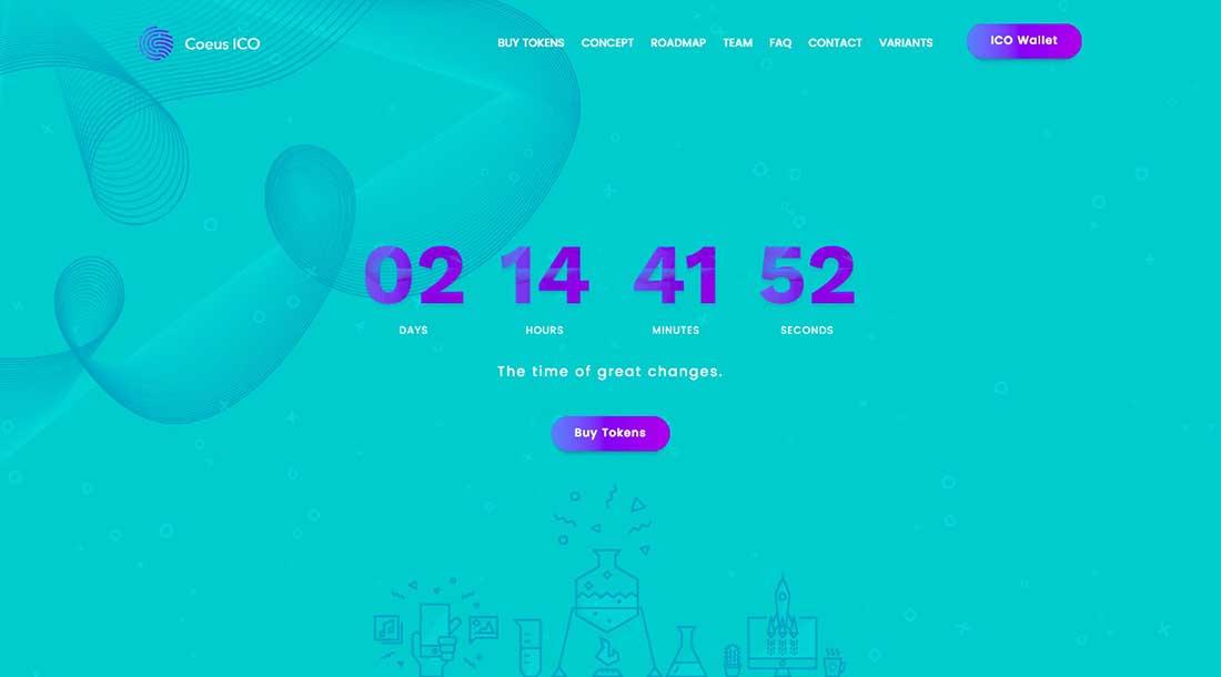 18 Coeus - Cryptocurrency Landing Page WordPress Theme