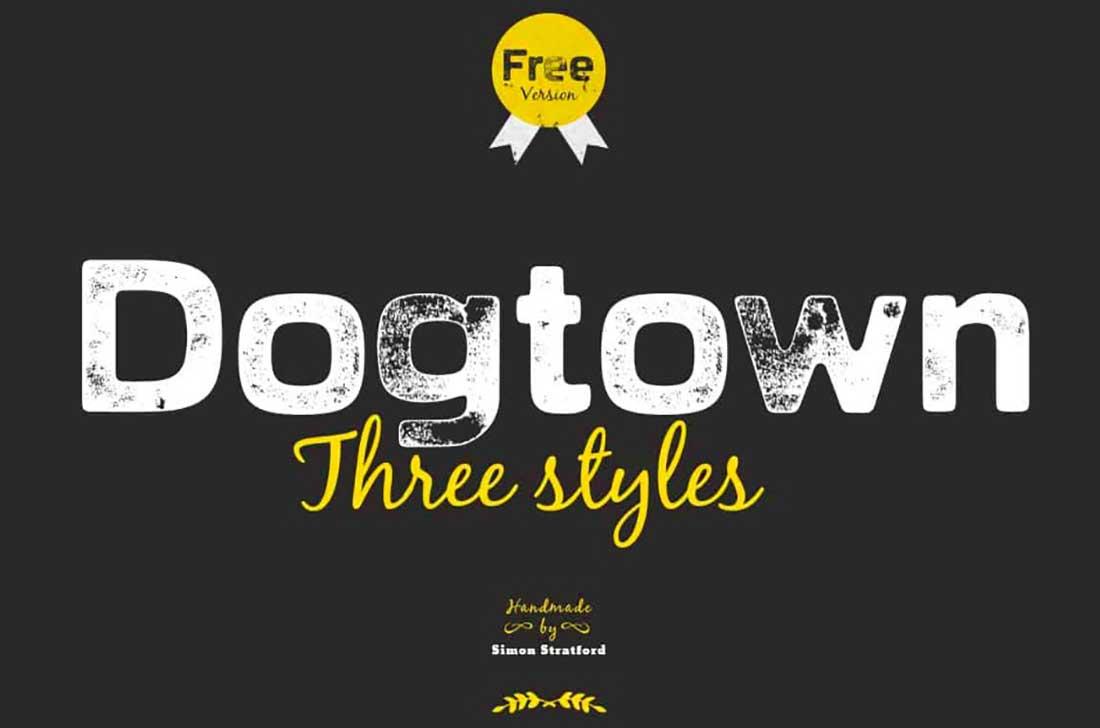 18 Dogtown Typeface