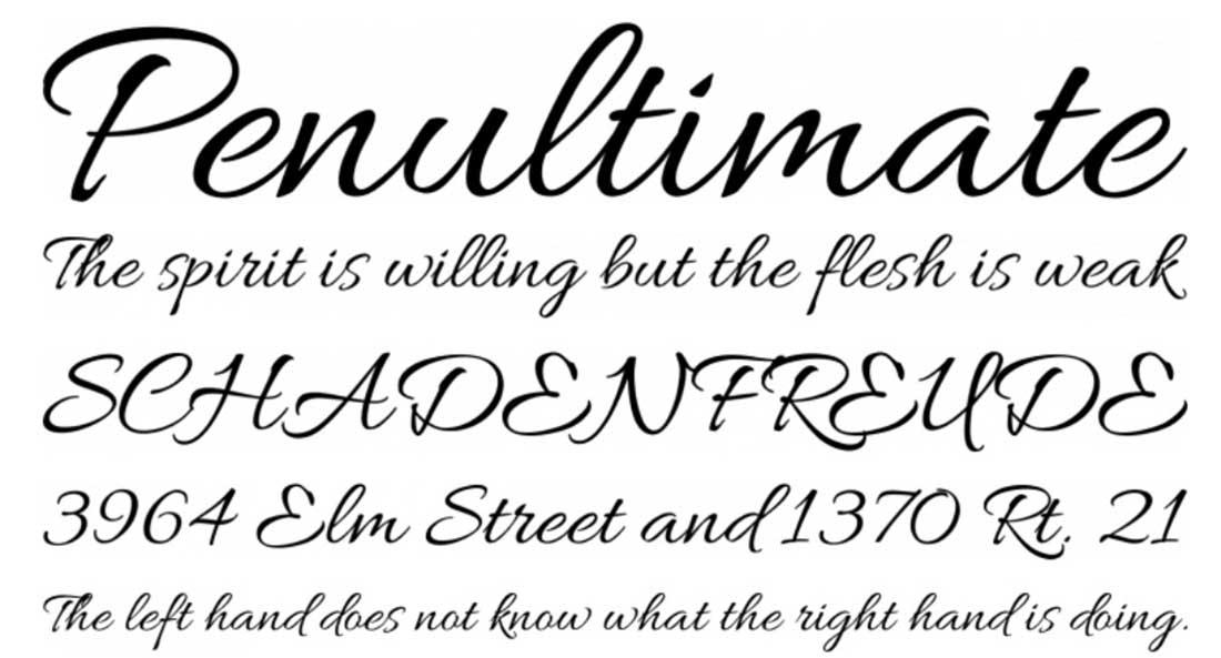 4 Allura Free Elegant Fonts