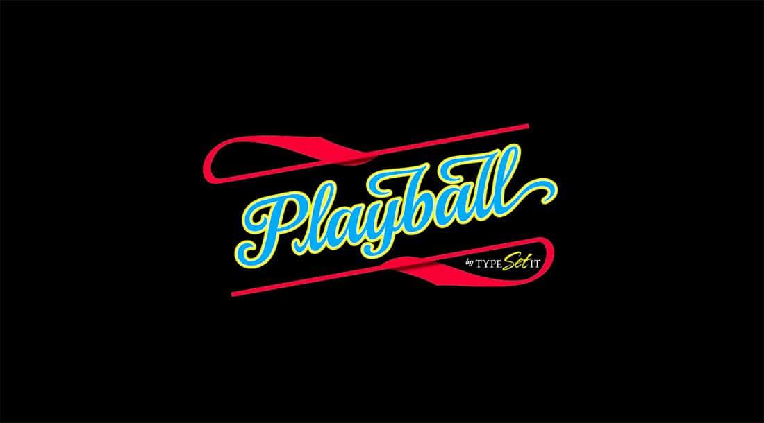 7 Playball Free Elegant Font