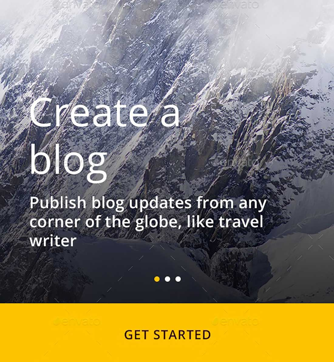 8 Blog Mobile UI Template