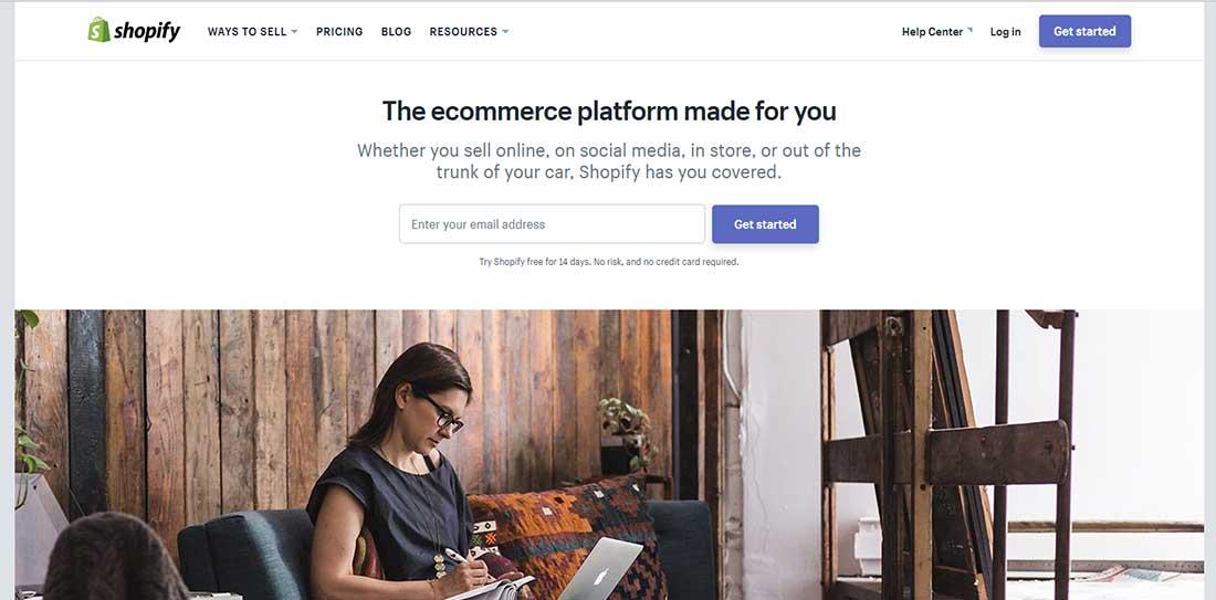 Ecommerce Software Shopping Cart Platform shopify