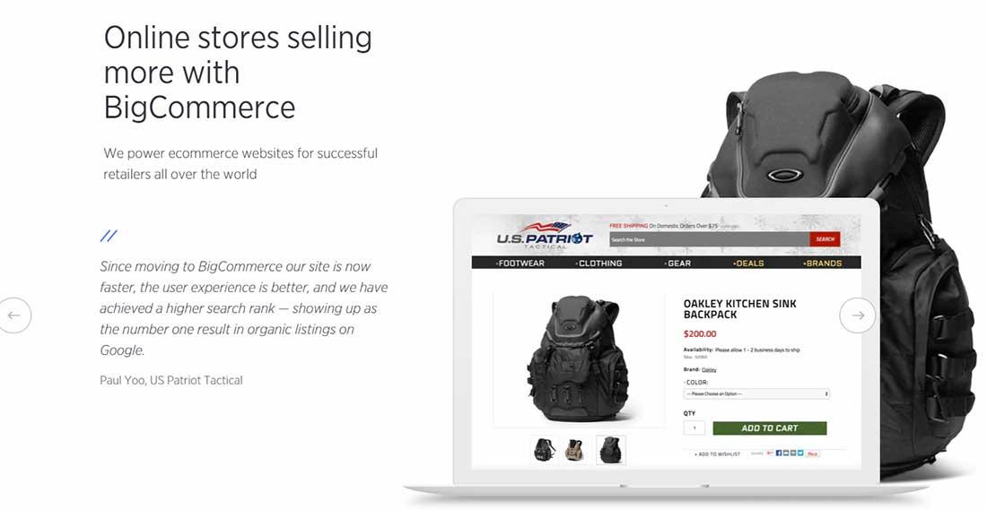 Ecommerce Software Shopping Cart Platform BigCommerce