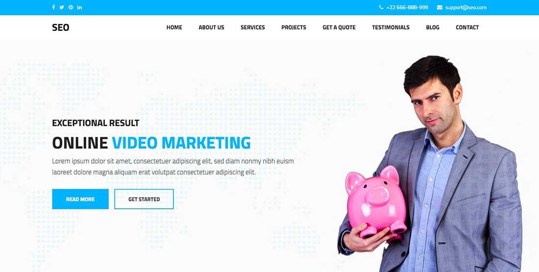 11 SEO - Marketing & SEO WordPress theme