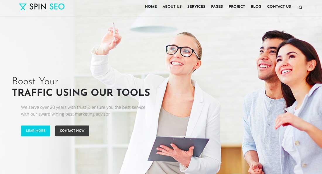 16 SPIN SEO - SEO & Business WordPress Theme!