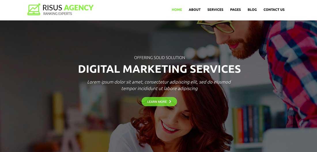 22 Risus Agency - SEO and Digital Marketing WordPress Theme