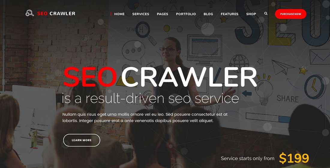 6 SEOCrawler - Digital Marketing Agency, Social Media,SEOWordPress Theme