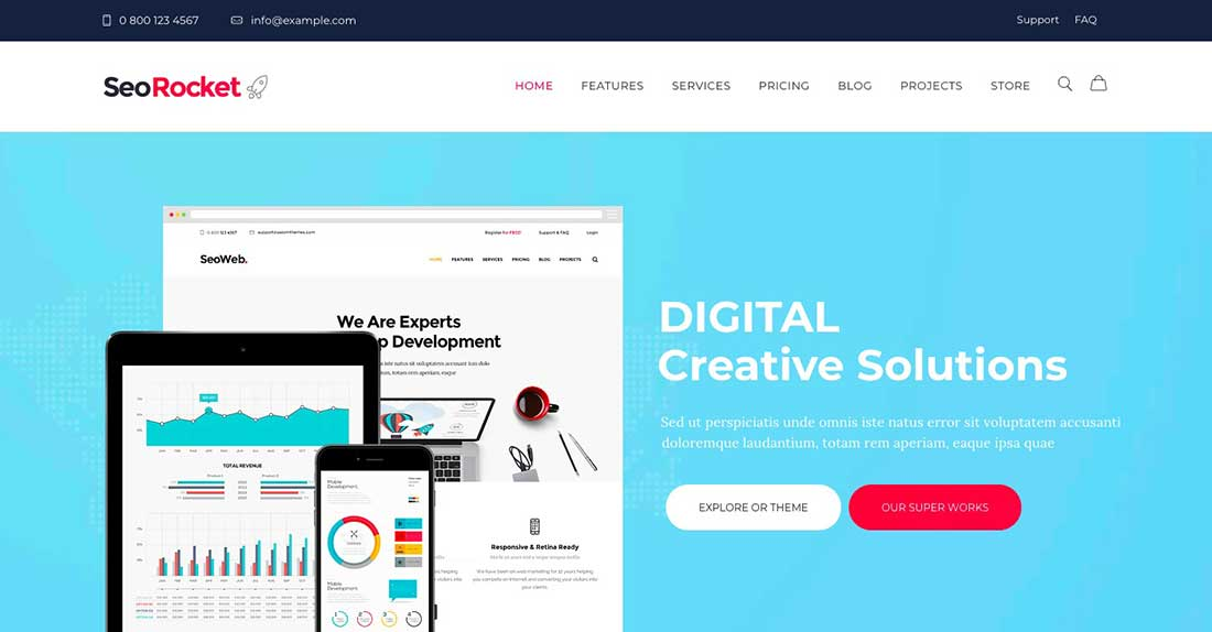 8 Seo Rocket | SEO & Marketing WordPress Theme