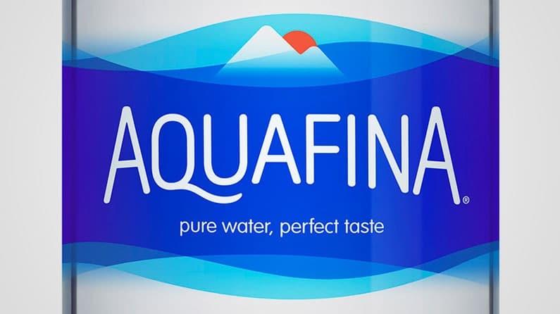 Understanding the Importance of Shapes in Logo Design - Aquafina logo
