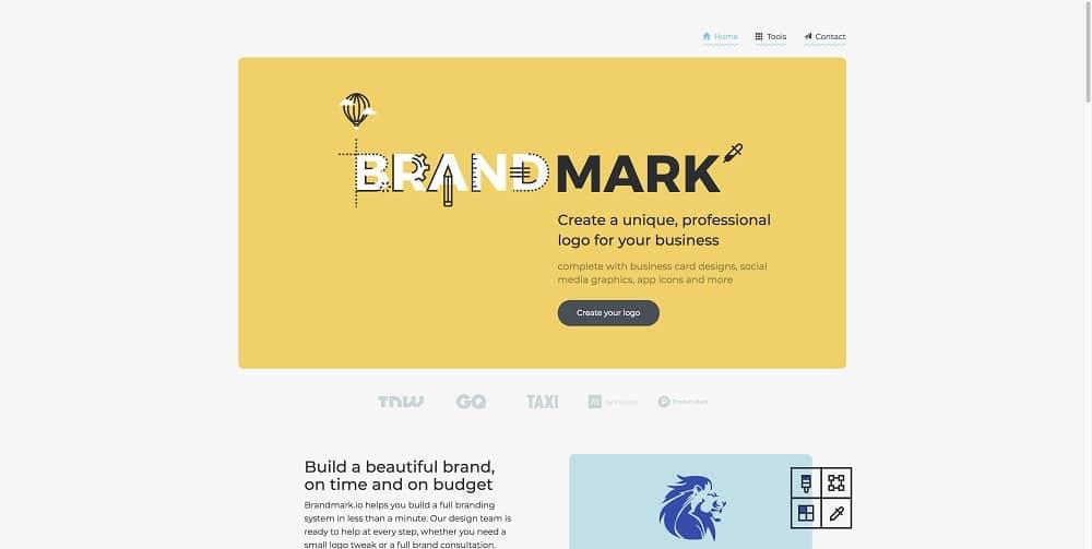 Las 8 mejores herramientas gratuitas de diseño de logotipos: Mark Maker