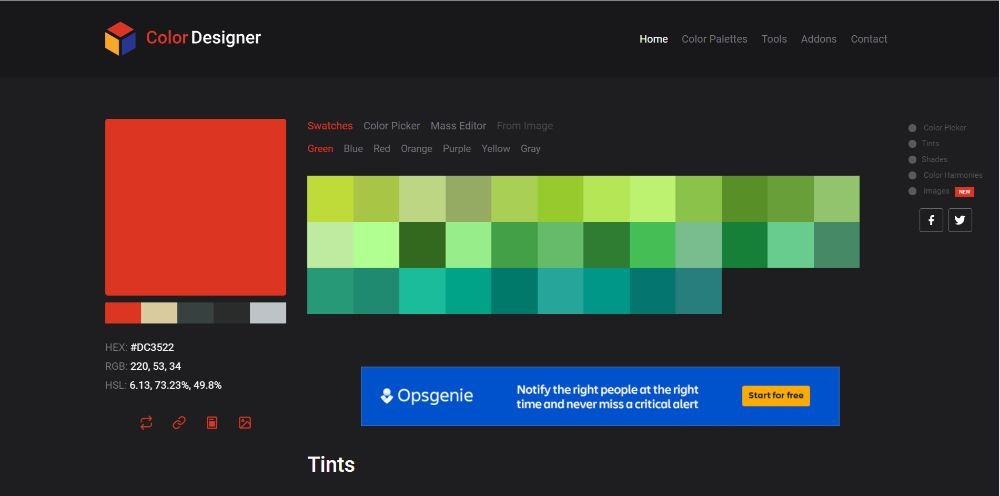 ColourDesigner - Color Scheme Generators To Use in 2020