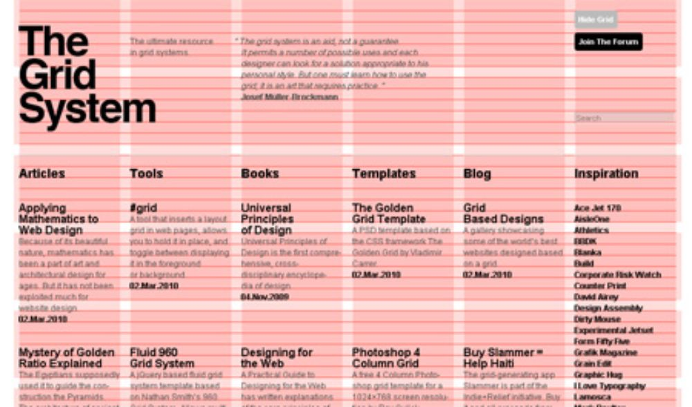 Block by block website layout-Grid