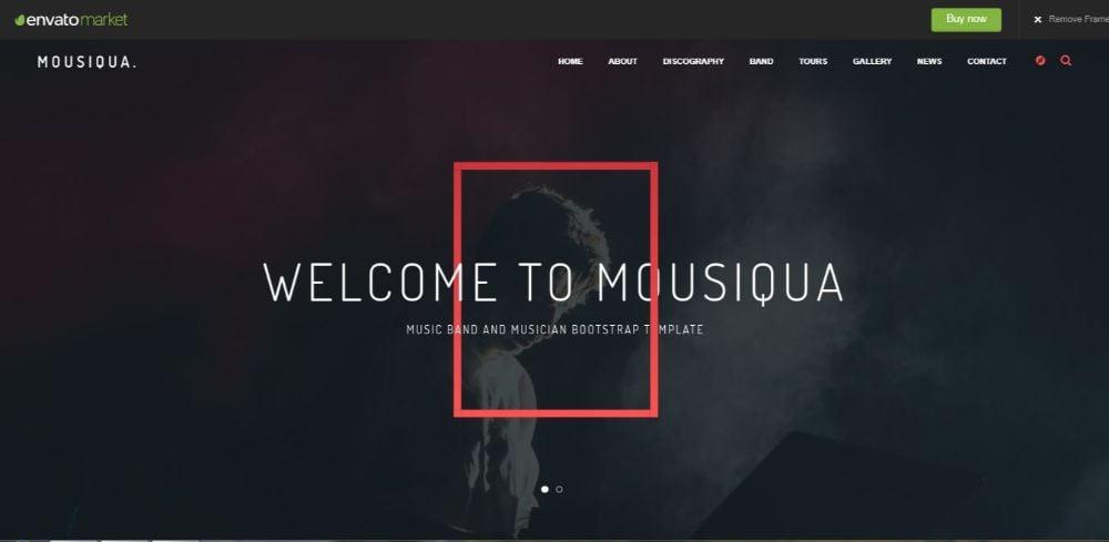Mousiqua - Music Band Html Template