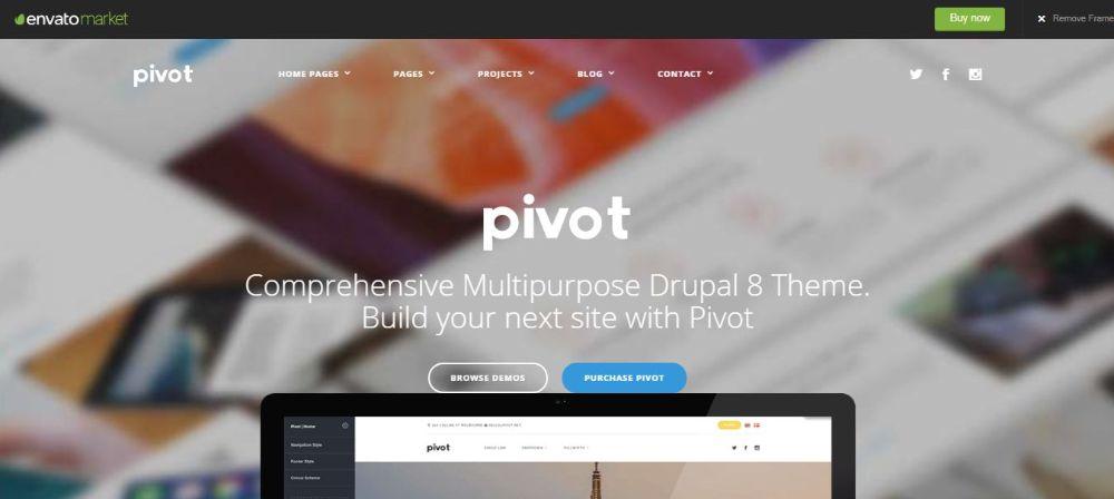 8. Pivot - Drupal 8 Multipurpose Theme with Paragraph Builder