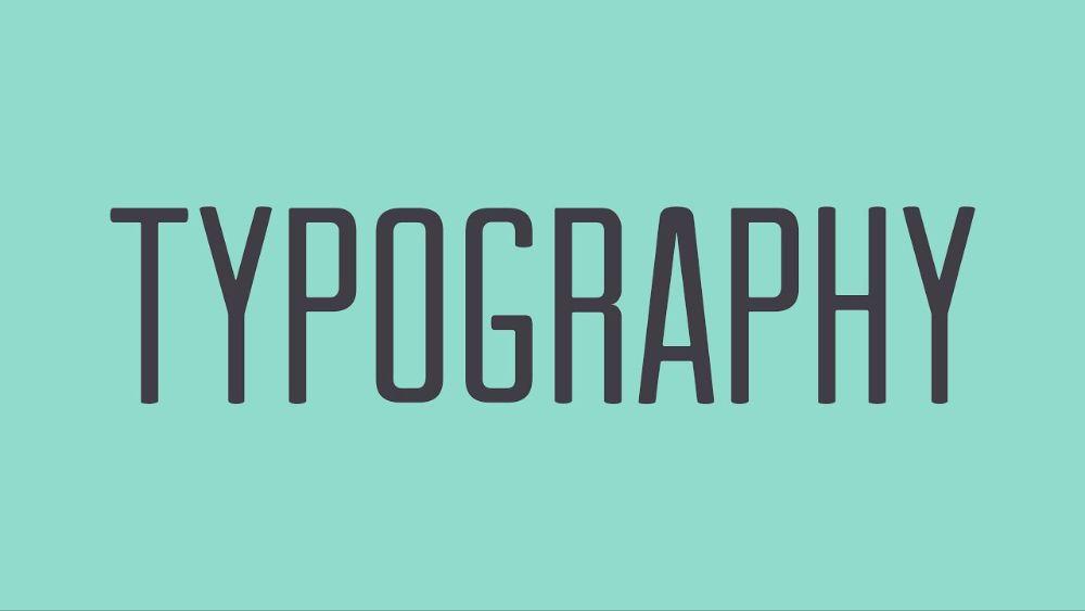 don't undeutilize typography