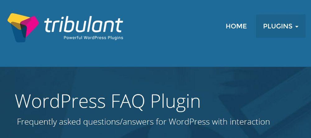 WordPress FAQ Plugins - Tribulent
