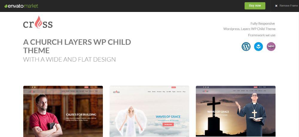 WordPress Child Theme - cross