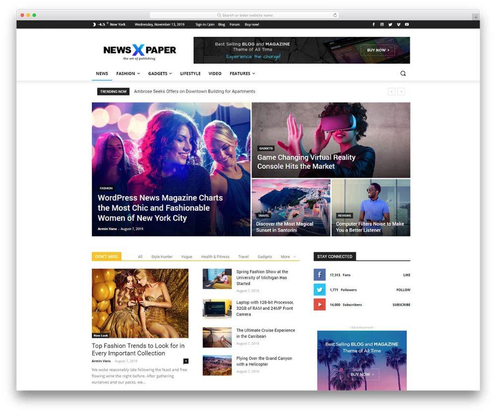 different websites - magazine website