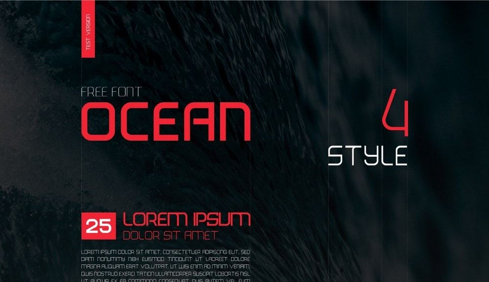 free font - ocean