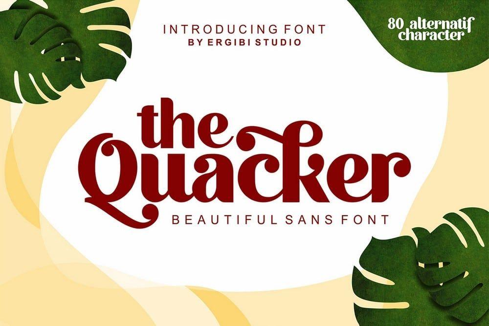 free font - quacker