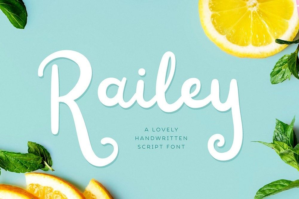 free font - railey