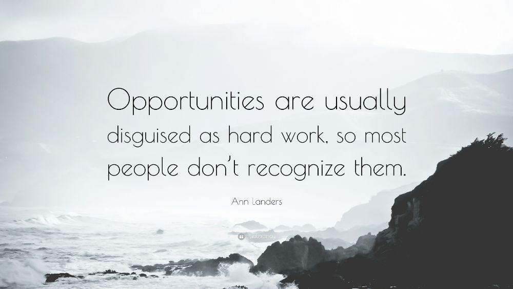 Inspirational Wallpaper - Opportunity