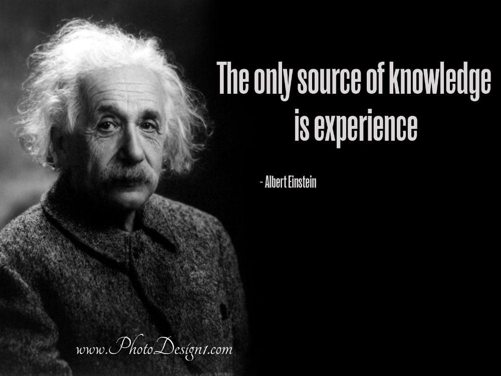 Inspirational wallpaper - Knowledge Quote by Albert Einstein
