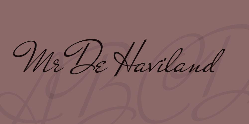 Mr. De Haviland