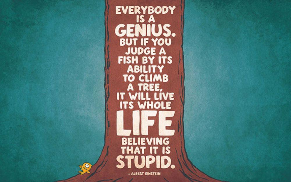 Inspirational wallpaper - Quote by Albert Einstein
