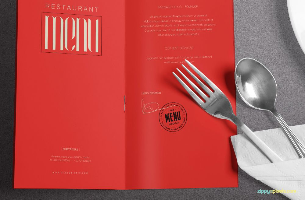 Sophisticated menu