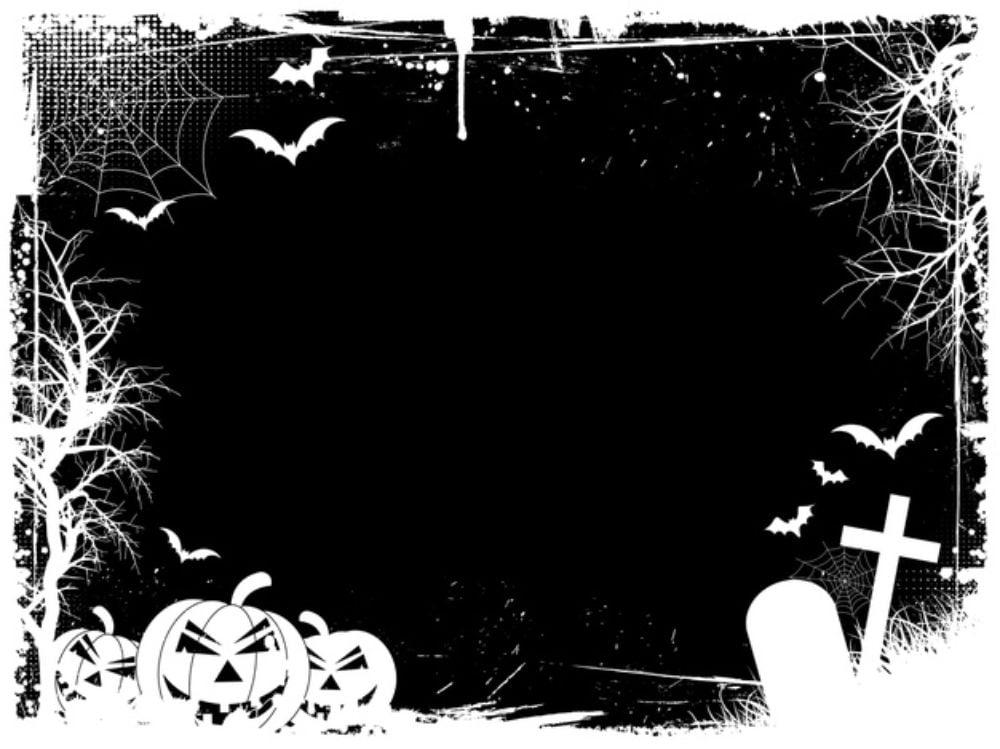 Grunge halloween border Free Vector