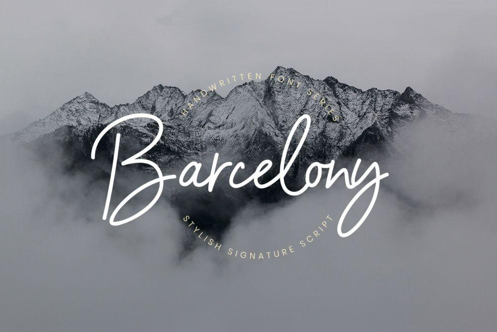 Barcelony-Signature-Font