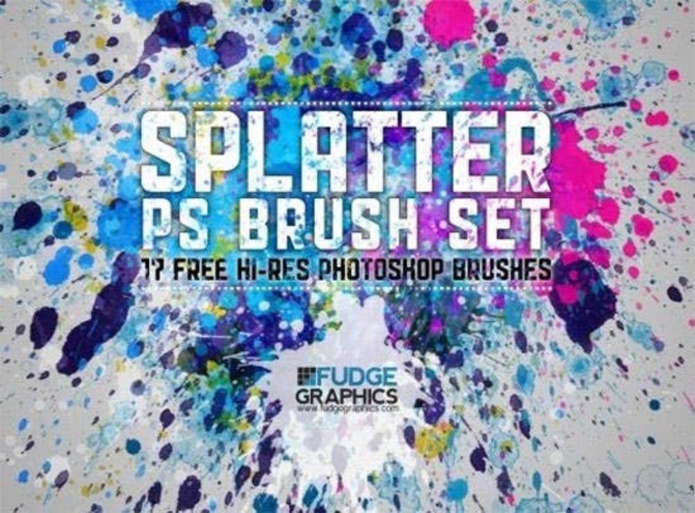 Free Hi-Res Splatter Photoshop Brush Set