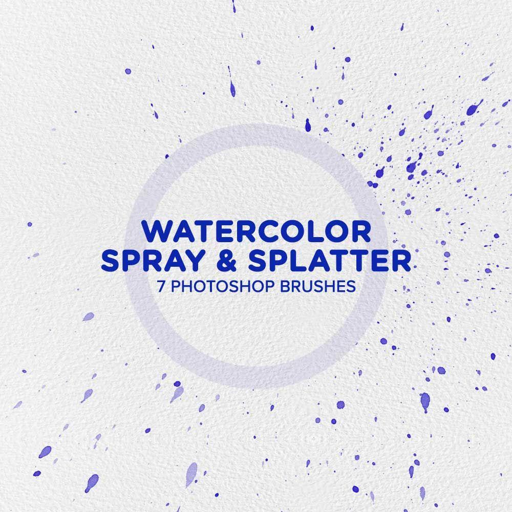 Free Watercolor Spray & Splatter Photoshop Brushes