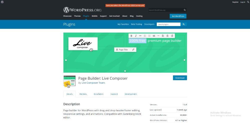 Live Composer Site Builder