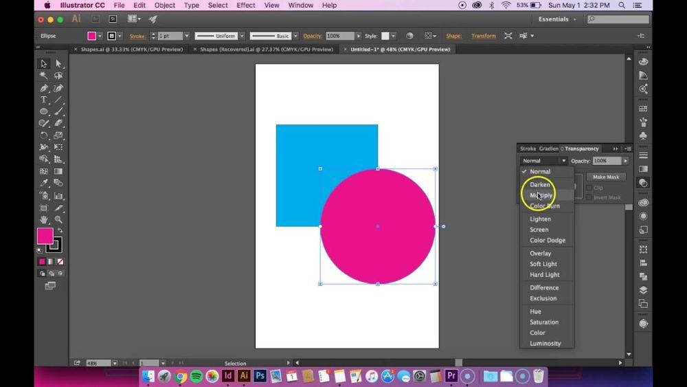 Opacity in gradient tool