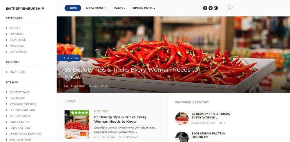 WordPress Themes for Affiliate Marketing: Entrepreneurship