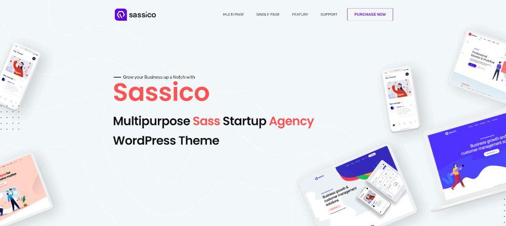 WordPress Themes for SAAS companies: Saasico
