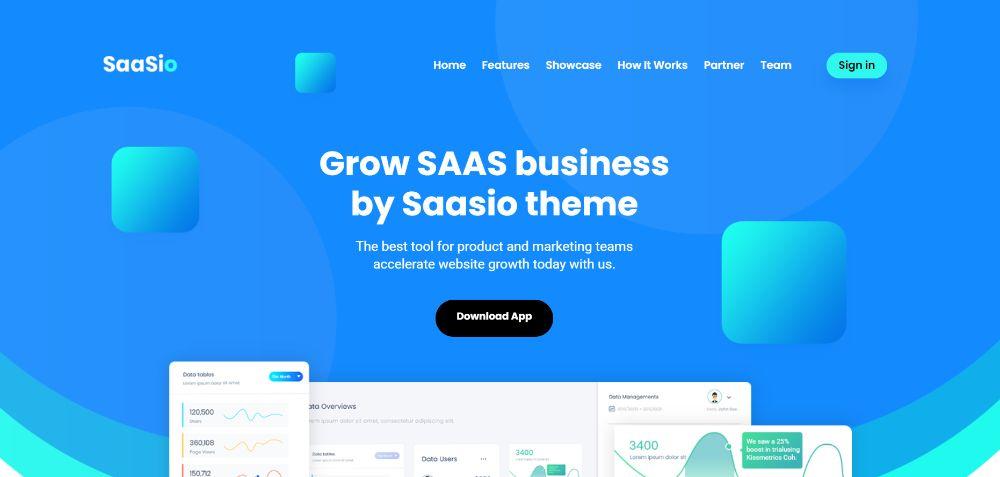 WordPress Themes for SAAS companies: Saasioa