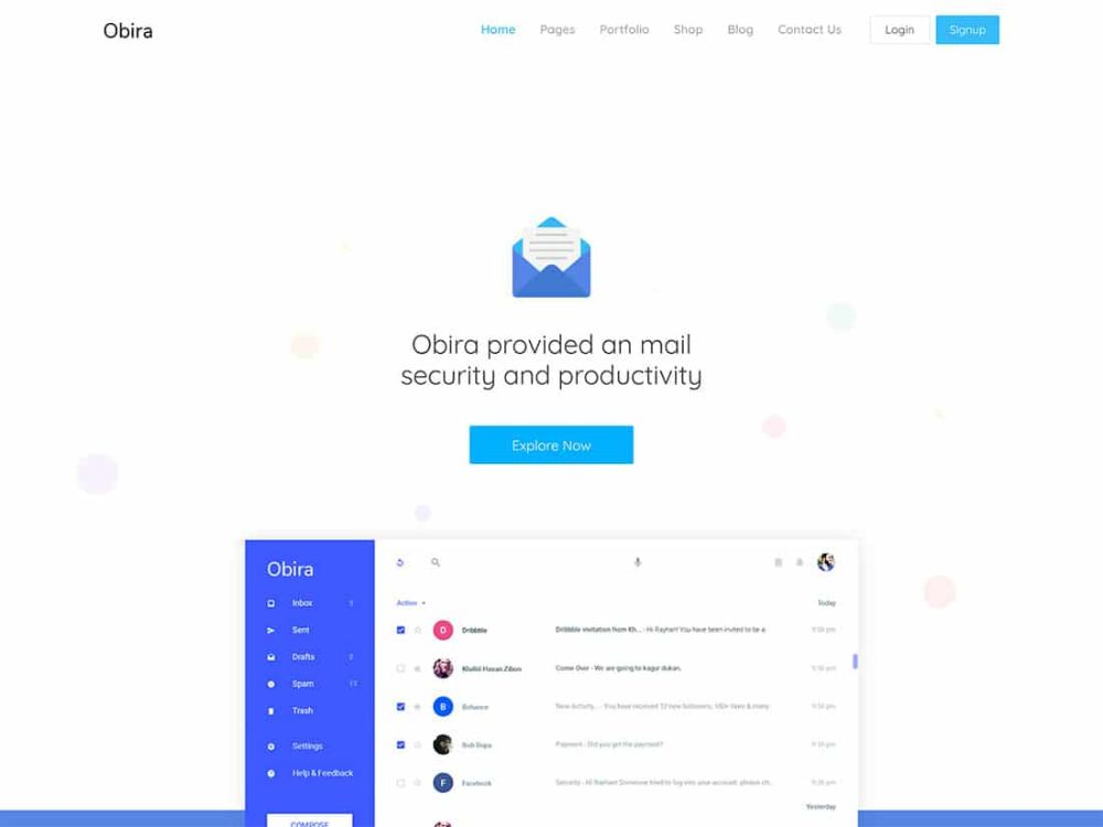 WordPress Themes for SAAS companies: Obira
