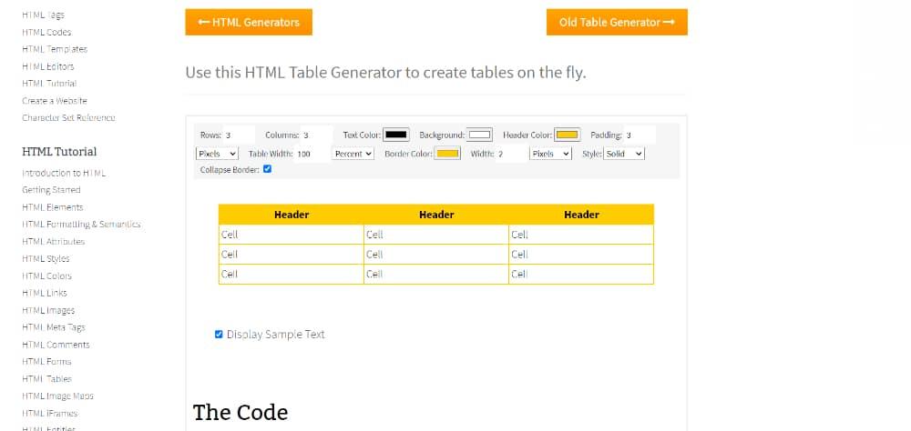 Best Free Online Table Maker Tools: QuackIt