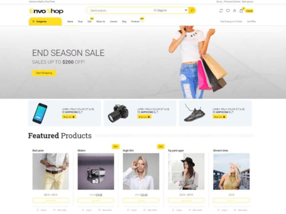 WordPress Theme for Dropshipping: Envo Shop