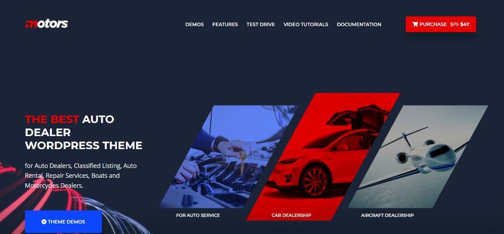 Amazing WordPress Themes for Car Dealers: Motors