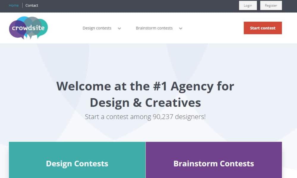 Best Design Contest Websites: CrowdSite