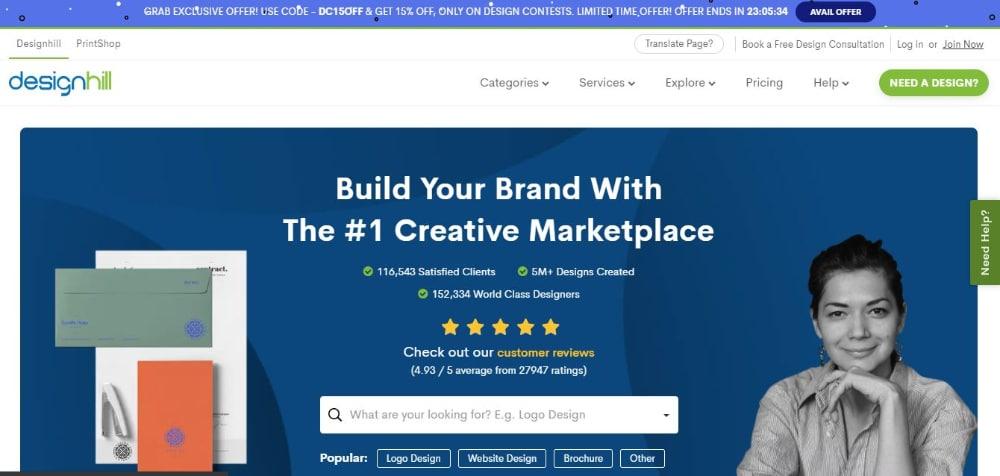 Best Design Contest Websites: DesignHill