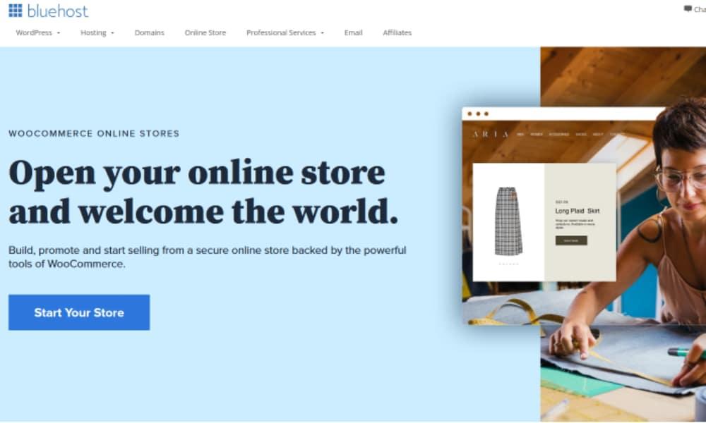 Best WooCommerce Alternatives: BlueHost