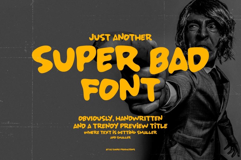 Best Comic fonts for designers: Super Bad Font