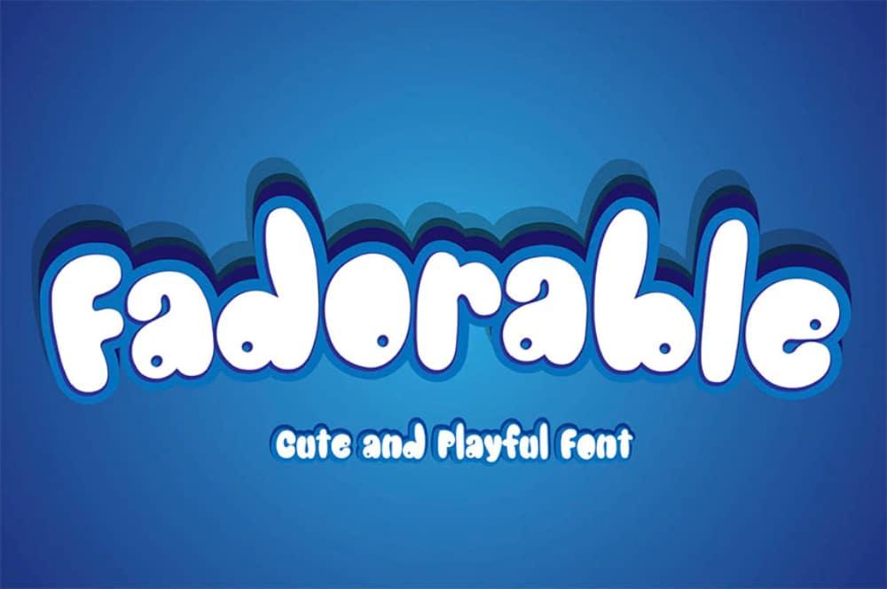 Best Comic fonts for designers: Fadorable
