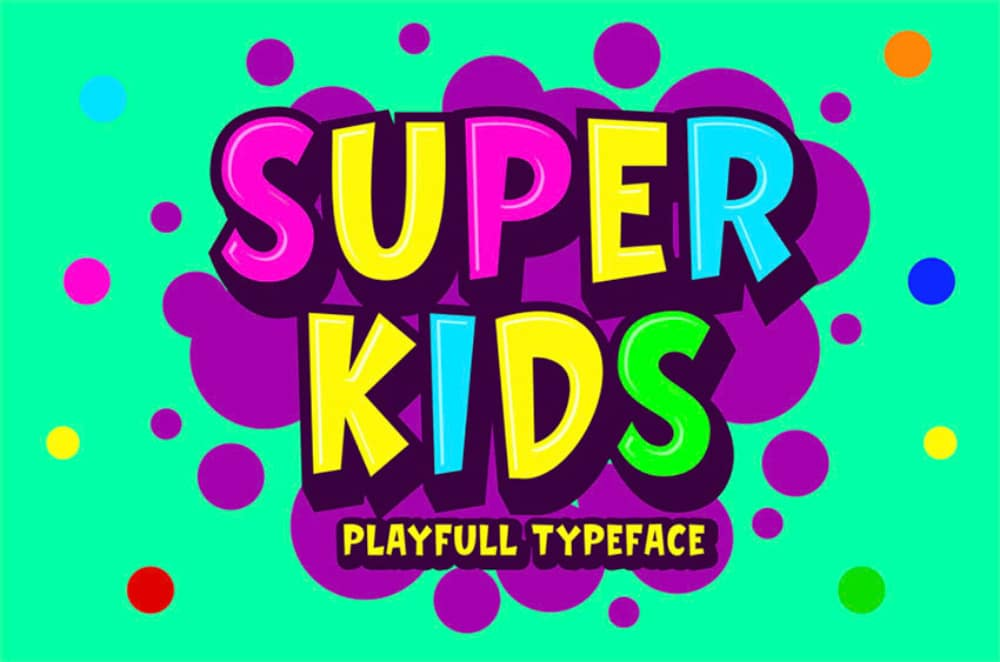 Best Comic fonts for designers: Super Kids